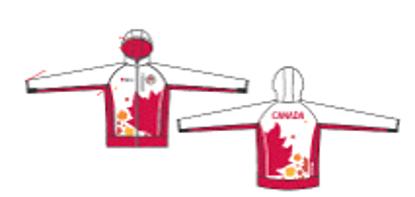 Picture of Team Canada White Full Zip Hoodie - 2014 design